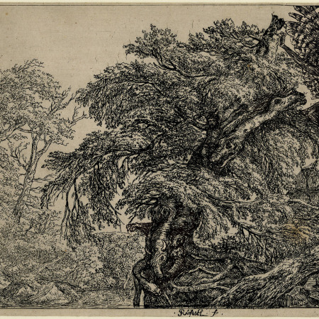 Gravura atribuída a Jacob van Ruisdael - Impressão Giclée - 19 cm x 28 cm