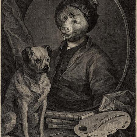 Gravura atribuída a William Hogarth - Impressão Giclée - 37 cm x 27 cm