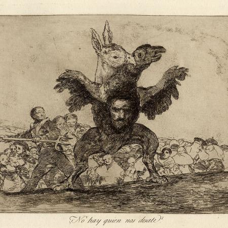 Gravura atribuída a Francisco de Goya - Impressão Giclée - 19 cm x 24 cm