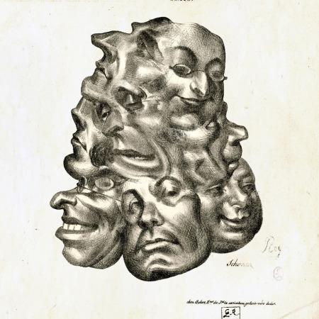 Gravura atribuída a Honoré Daumier - Impressão Giclée - 18 cm x 23 cm