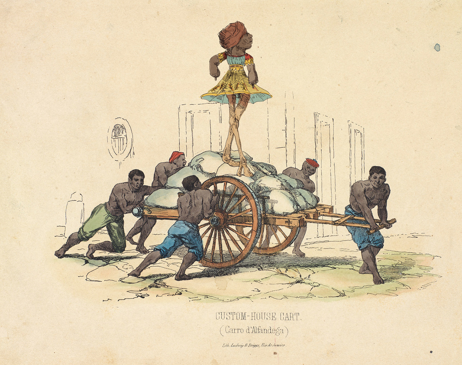 Gravura atribuída a Frederico Guilherme Briggs - Impressão Giclée - 18 cm x 23 cm