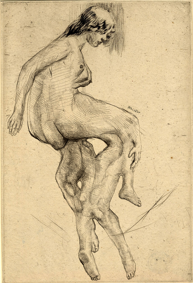Gravura atribuída a James McNeil Whistler - Impressão Giclée - 22 cm x 15 cm