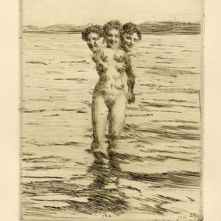 Gravura atribuída a Anders Zorn - Impressão Giclée - 19 cm x 14 cm