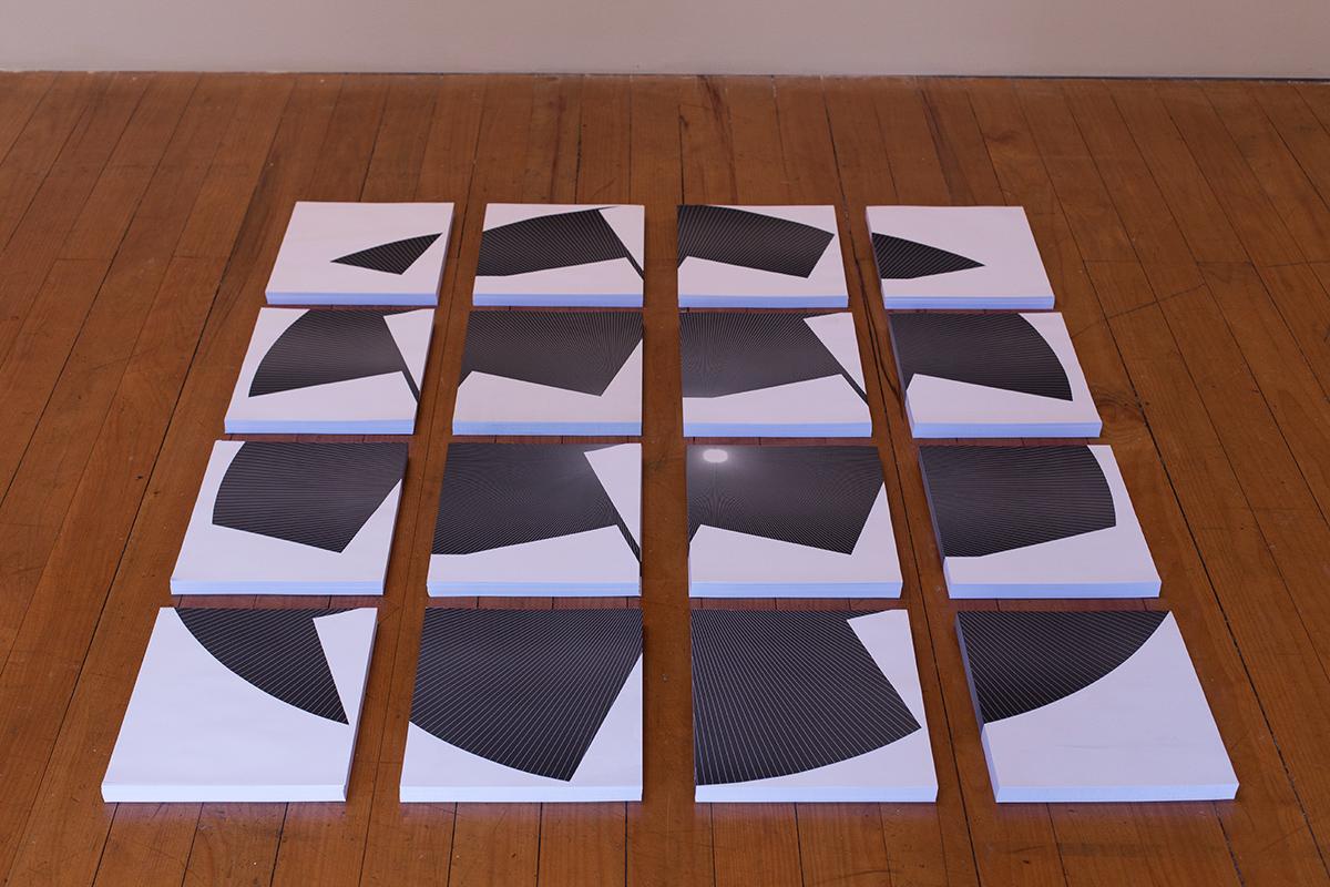 Vista dos 16 blocos de papéis dos Meridianos