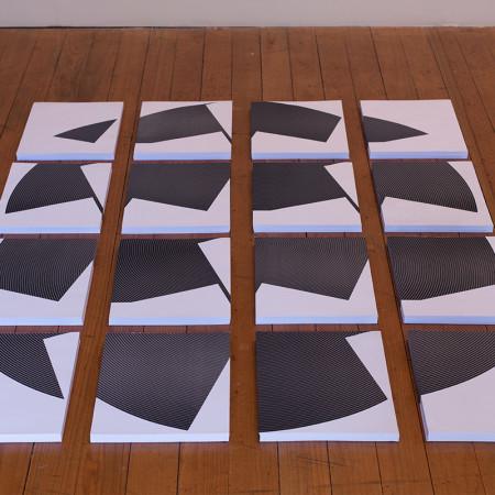 Vista dos 16 blocos de papéis dos Paralelos