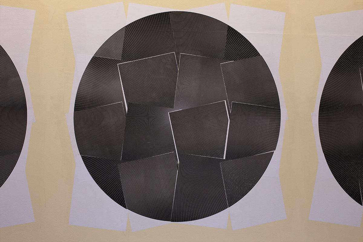 Composição misturando as impressões dos blocos dos Paralelos e dos Meridianos