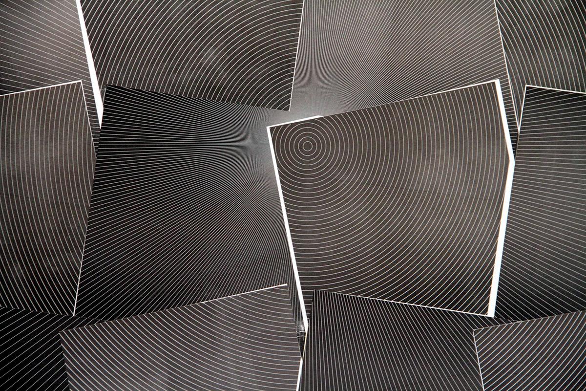 Detalhe da composiçãomisturando as impressões dos blocos dos Paralelos e dos Meridianos - foto Elenize Dezgeniski